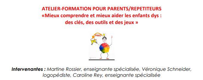 """Atelier-Formation """"Mieux comprendre et aider les enfants """"dys""""."""